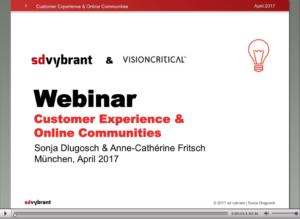Webina customer Experience & Online Communities